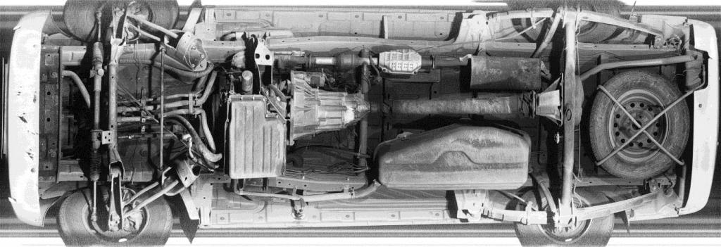 Изображение полного сканирования днища автомобиля